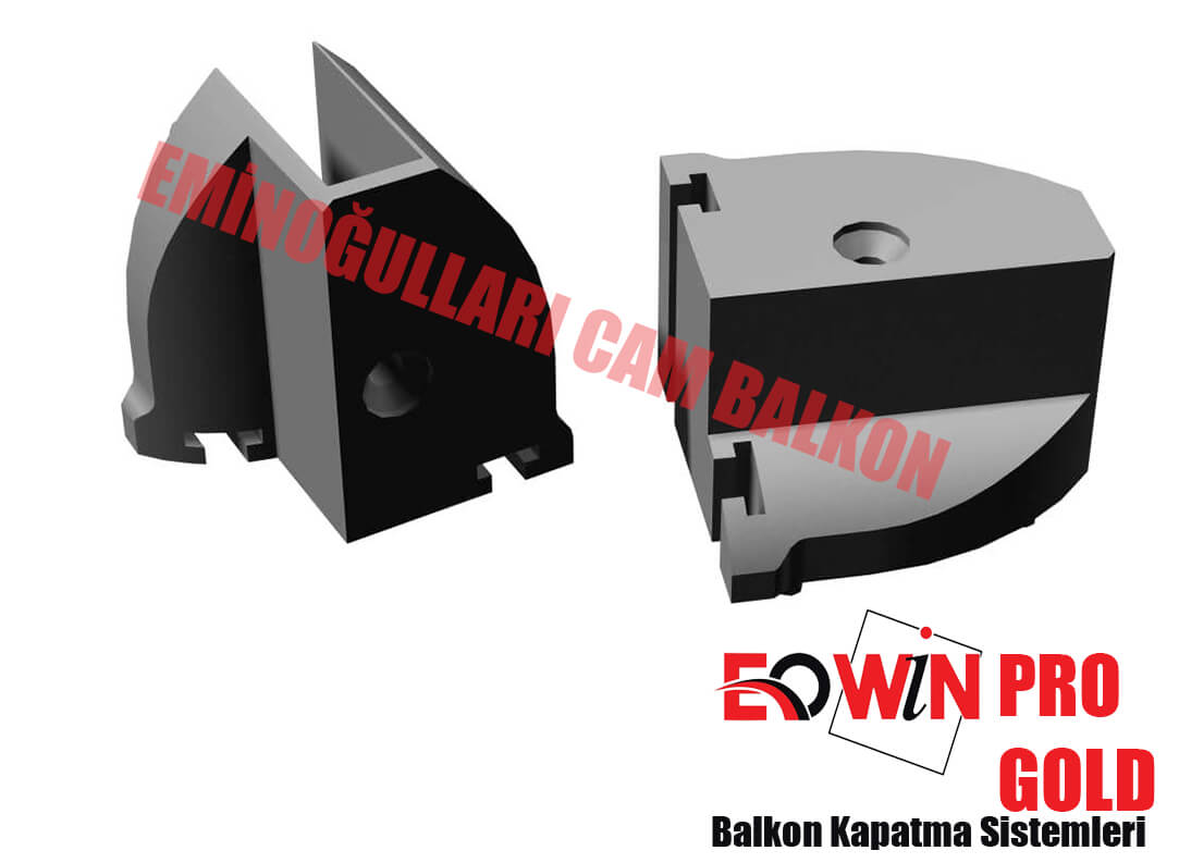 Isıcamlı Cam Balkon - EOWİN Pro Gold Cam Balkon - Düz Dikme Kapak