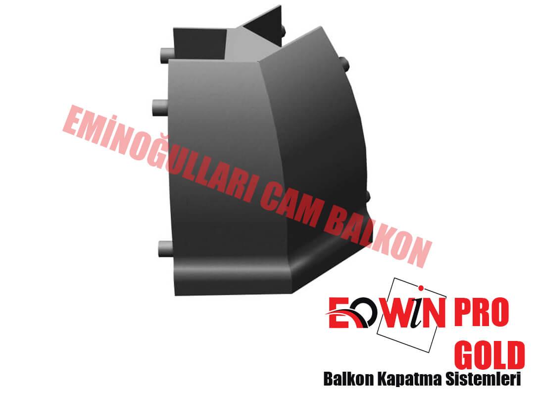 Isıcamlı Cam Balkon - EOWİN Pro Gold Cam Balkon - Kapak 22,5 135 Derece