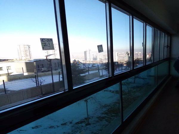 ısı yalıtımlı katlanabilir cam balkon